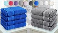 WOW!! 4 X Jumbo Egyptian Cotton Bath Towels - 10 Colours