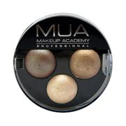 MUA Trio Eyeshadow Innocence-Nudes-Brown,gold,cream-NEW