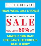 Last Chance! Further Reductions up to 60% off Now! Feel Unique