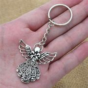 Antique Silver Plated Guardian Angel