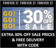 EXTRA 30% OFF SALE PRICES at FOREVER 21 ! >>>>>>> WITH CODE
