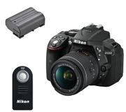 NIKON D5300 DSLR Camera with DX 18-55 Mm f/3.5-5.6G VR Lens Bundle