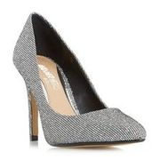Alice - Silver Pointed Toe Court Shoe