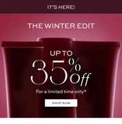 Save up to 35% in the Winter Edit