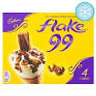 Cadbury Flake 99 Cones 4 X 125ml (500ml)