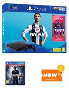 PS4 500GB Console + FIFA 19 + Uncharted 4: A Thief's End + Now TV