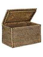 *HALF PRICE* John Lewis Fusion Dark Rattan Lid Basket, Large