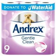 Andrex Gentle Clean Toilet Roll 9 per Pack