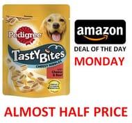 Pedigree Tasty Bites Dog Treats Cheese and Beef, 8 Bags (8 X 140 G)