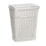 Wilko Split Wood Laundry Hamper White Free C&C