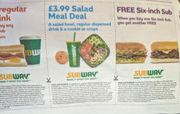Buy 1 Get 1 Subway Voucher in Today's Metro