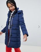Esprit Toggle Padded Jacket with Marl Hood Lining