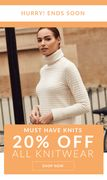 LAST CHANCE: 20% off ALL Knitwear
