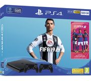 SONY PlayStation 4 with FIFA 19 & Dual Wireless Controllers 500 GB Only £279.00