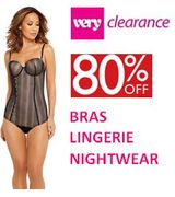 80% off BRAS, LINGERIE & NIGHTWEAR at Very Clearance on eBay - from £1.99