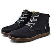 Mens Ankle Boots Winter Warm Waterproof Snow Boots Lace Up