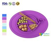 Kids Plates Silicone Toddler Suction Bowls
