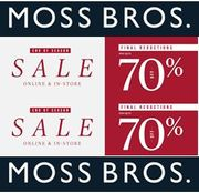 MOSS BROS JANUARY SALE - Final Reductions Now On! up to 70% OFF