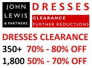 350+ Dresses Are 70%-80% OFF! JOHN LEWIS DRESS CLEARANCE
