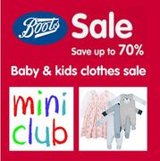 Boots Sale 50% to 70% OFF Boost Mini Club Kids Clothing ONLINE
