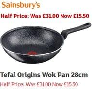 HALF PRICE WOK! Tefal Origins Wok Pan 28cm £15.50