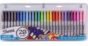 Sharpie 28 Pack Fine Permanent Markers. Limited Edition Set