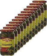 Old El Paso Sliced Green Jalapenos Hot 215 G (Pack of 12)
