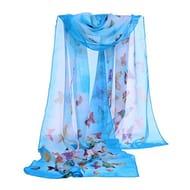 Fashion Women Butterfly Printing Soft Wrap Scarf