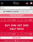 Buy One Get One Half Price on Sale Items