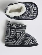 M&S Fairisle Priam Shoes