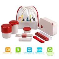 Bento Box, Fun Life 6 Piece Lunch Box Set