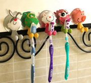 Cute Animal Silicone Toothbrush Holder Home Set Wall Bathroom Hanger Suction RU