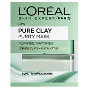 L'Oreal Paris 3 Pure Clays and Eucalyptus Purity Mask, 50 Ml