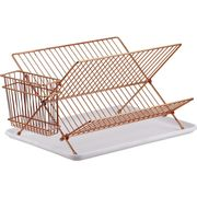 Copper Dish Rack & Cutlery Holder