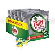 Fairy Platinum Dishwasher Tablets Bulk Lemon, 125 Tablets
