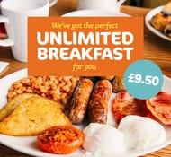 Adult Unlimited Breakfast + 2 Kids (Under 16) Eat FREE £9.50 / £3.17pp