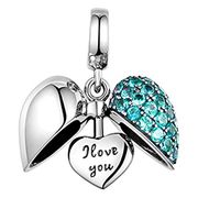 I Love You Silver Heart - S925 Sterling Silver - Gift Boxed
