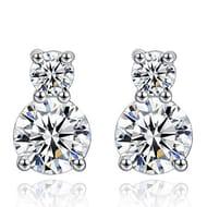 Joyfulshine Cubic Zirconia Earrings,925 Sterling Silver