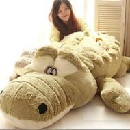 Oversized Plush Crocodile Pillow - 2 Colours