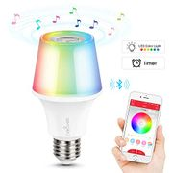 Colour Changing LED Light Bulb E27 Base with JBL Bluetooth Speaker