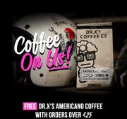 Free Dr.Xs Americano Coffee with Orders over £25