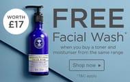 Free Facial Wash with Matching Toner & Moisturiser