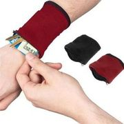 Zipper Wrist Wallet Arm Band Sport Strap Bag