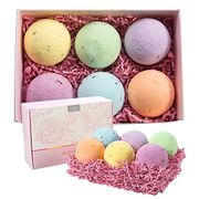 STACK DEAL* Bath Bombs Set, 6 Vegan Natural Essential Oils and Dry Flowers