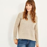 Sally Cable Knit Jumper Chalk - Save 70%!