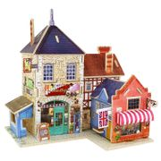 Robotime Wood 3D House of Puzzles British Music Store Woodcraft Construction Kit