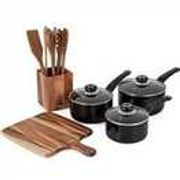 Morphy Richards Black 5-Piece Pan and Kitchen Accessories Set