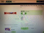 24 Pack Kitkat Chunky Duo 70p