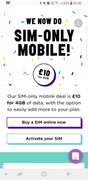 SIM Only Deal for £10 from Superdrug