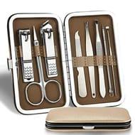 Acecoree 8PCS Nail Art Manicure Tools Set Nails Clipper Scissors